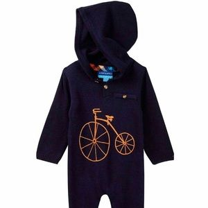 Andy & Evan hooded romper 12 months
